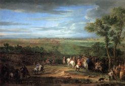 Louis XIV Arriving in the Camp in front of Maastricht | Adam Frans van der Meulen | Oil Painting