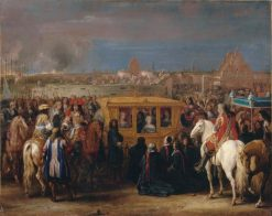 Solemn entry of King Louis XIV and Queen Maria-Theresa in Douai on 23 August 1667 | Adam Frans van der Meulen | Oil Painting
