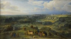View of the City of Luxemburg from the baths of Mansfeld | Adam Frans van der Meulen | Oil Painting
