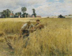 Moisson près du ru Chailly | Leon Augustin Lhermitte | Oil Painting