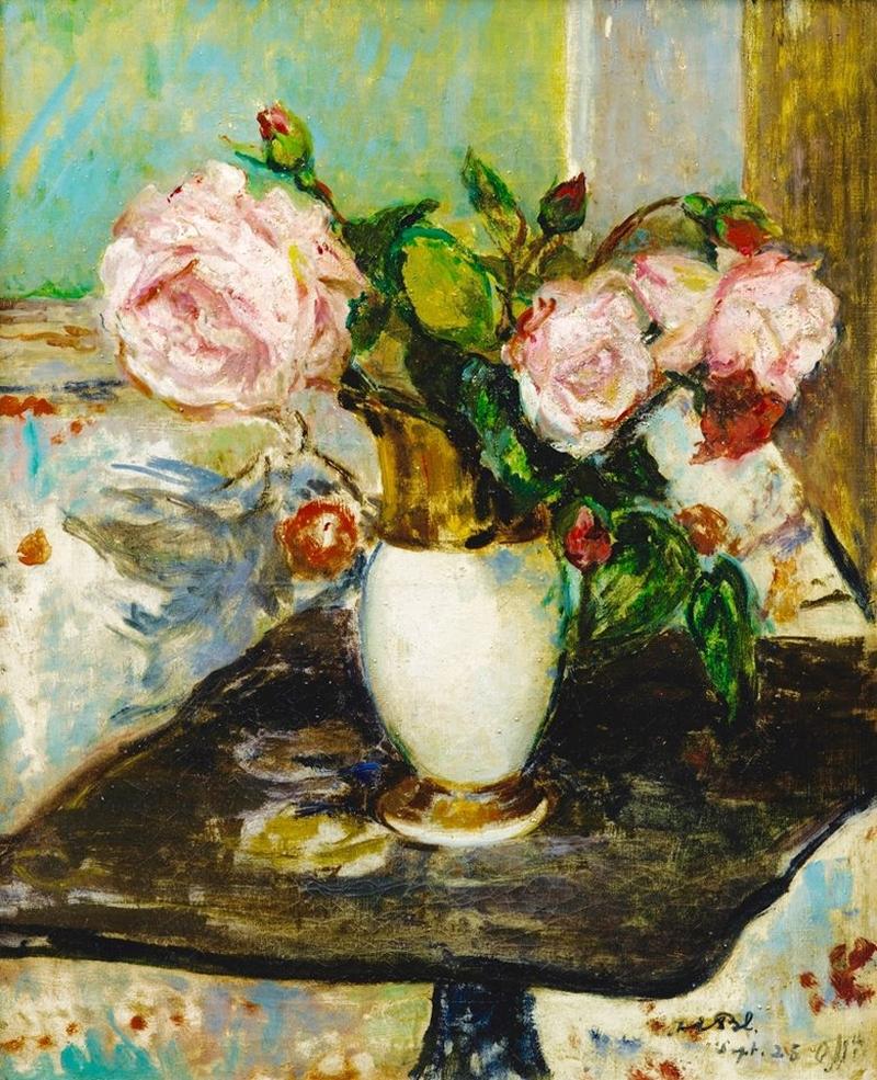 Ocean\u0027s Bridge & Flowers in a Vase