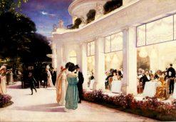 Une soiree au Pre-Catelan   Henri Gervex   Oil Painting
