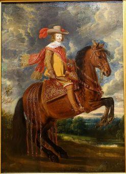 Equestrian portrait of Cardinal Infante Ferdinand of Austria | Adam Frans van der Meulen | Oil Painting