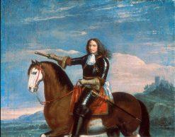 Equestrian portrait of Henri de la Tour dAuvergne
