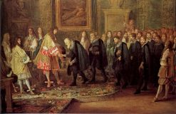 Louis XIV receives a delegation from the Swiss Confederation in the Louvre | Adam Frans van der Meulen | Oil Painting