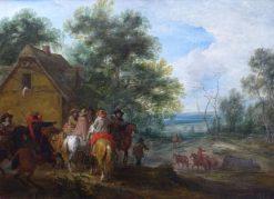 Halte de cavaliers | Adam Frans van der Meulen | Oil Painting