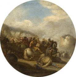 A Battle Scene | Adam Frans van der Meulen | Oil Painting