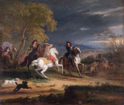 French Generals Arriving before a Town | Adam Frans van der Meulen | Oil Painting