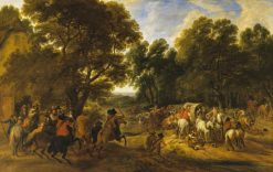 Bandits Holding up Travellers | Adam Frans van der Meulen | Oil Painting