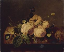 Roses and Butterflies | Jan Frans van Dael | Oil Painting