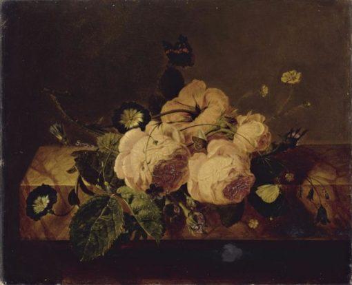 Roses and Butterflies | Jan Frans van Dael | Oil Painting