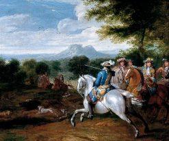 The Boar Hunt | Adam Frans van der Meulen | Oil Painting