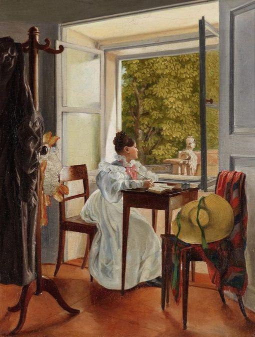 Marie Krafft am Schreibtisch | Johann Peter Krafft | Oil Painting