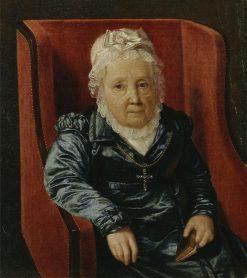 Rosina Wieser in an Armchair   Ferdinand Georg Waldmuller   Oil Painting