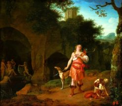 Diana and Actaeon | Ary de Vois | Oil Painting