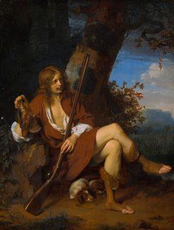 Self-portrait as Hunter | Ary de Vois | Oil Painting