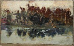 La sommossa | Daniele Ranzoni | Oil Painting