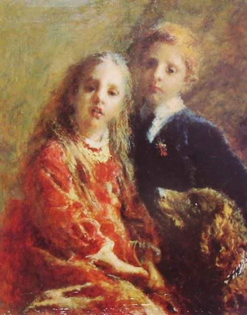 Portrait of Two Children | Daniele Ranzoni | Oil Painting