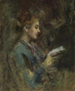 Woman Reading   Daniele Ranzoni   Oil Painting