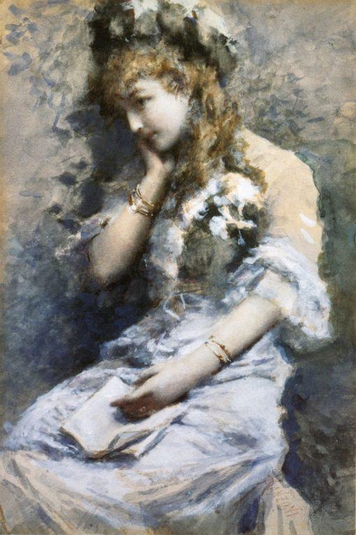 Contemplation | Daniele Ranzoni | Oil Painting
