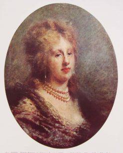 La baronessa Francfort | Daniele Ranzoni | Oil Painting
