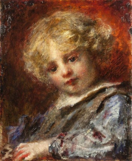 Portrait of a Child | Daniele Ranzoni | Oil Painting