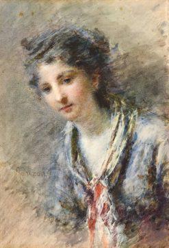 Portrait of Signora Uglietti | Daniele Ranzoni | Oil Painting