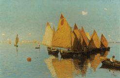View of the Venetian Lagoon | Guglielmo Ciardi | Oil Painting