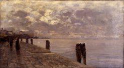 Fondamenta | Guglielmo Ciardi | Oil Painting