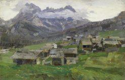 Conca di Sappada con le Terze | Guglielmo Ciardi | Oil Painting