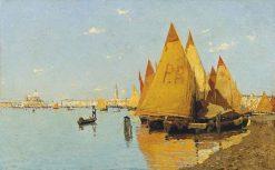 Vele in Laguna | Guglielmo Ciardi | Oil Painting