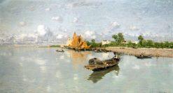 Marina | Guglielmo Ciardi | Oil Painting