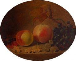 Still Life with Peaches and Grapes | William Duffield | Oil Painting