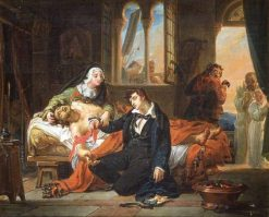 The Dedication of the Young Mazet | Auguste Jean Baptiste Vinchon | Oil Painting