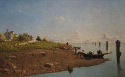 La laguna a Mazzorbo | Guglielmo Ciardi | Oil Painting