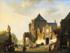 Cityscape | Adrianus Eversen | Oil Painting