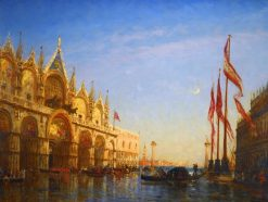Flood in Venice | Felix-Francois-Georges-Philbert Ziem | Oil Painting