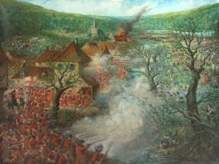 Battle Scene outside a Town | Cecil Gordon Lawson | Oil Painting