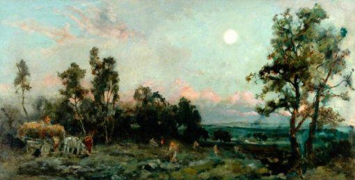 The Harvest Moon | Cecil Gordon Lawson | Oil Painting