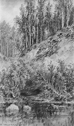 The Brook | Ivan Ivanovich Shishkin | Oil Painting