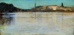 Bolshaya Nevka River | Ivan Ivanovich Shishkin | Oil Painting