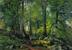 Beech Forest in Switzerland | Ivan Ivanovich Shishkin | Oil Painting
