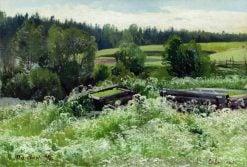 Landscape in Siverskaya | Ivan Ivanovich Shishkin | Oil Painting