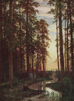 Evening in the Pine Forest | Ivan Ivanovich Shishkin | Oil Painting
