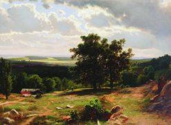 View near Dusseldorf | Ivan Ivanovich Shishkin | Oil Painting