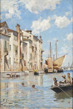 Children Bathing | Carl Skanberg | Oil Painting