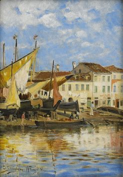 The Outskirts of Venice | Carl Skanberg | Oil Painting