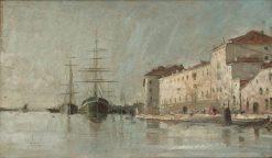 The Port of Venice | Carl Skanberg | Oil Painting