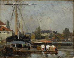 French Harbor | Carl Skanberg | Oil Painting