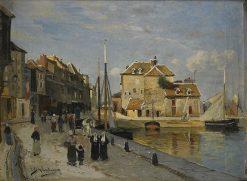 Harbor in Honfleur | Carl Skanberg | Oil Painting